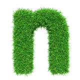 Green Grass Letter N Royalty Free Stock Photography