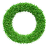 Green Grass Letter O Royalty Free Stock Image