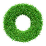 Green Grass Letter O Stock Photography