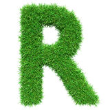 Green Grass Letter R Royalty Free Stock Photos