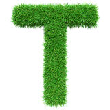 Green Grass Letter T Royalty Free Stock Photography
