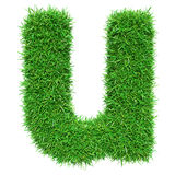 Green Grass Letter U Royalty Free Stock Image