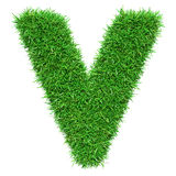 Green Grass Letter V Royalty Free Stock Images