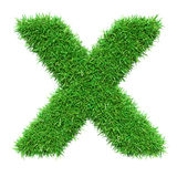 Green Grass Letter X Royalty Free Stock Image