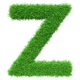 Green Grass Letter Z Stock Photo