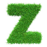 Green Grass Letter Z Royalty Free Stock Image