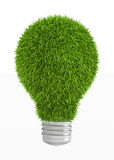 Green grass light bulb Royalty Free Stock Photography