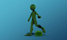 Green grass man Royalty Free Stock Image