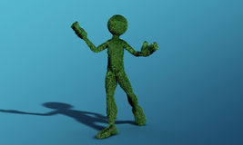 Green grass man Royalty Free Stock Photography