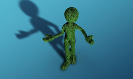 Green grass man Stock Images
