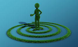 Green grass man Stock Photos