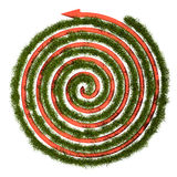 Green grass maze, 3D Royalty Free Stock Image