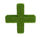 Green grass  medicine cross Royalty Free Stock Photo