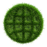 Green grass with the outline dark areas in form an icon of globe Royalty Free Stock Photo