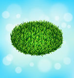 Green grass oval on sky Royalty Free Stock Image