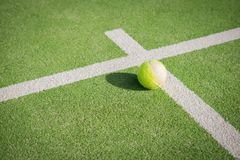 Paddle tennis court and ball Stock Photography