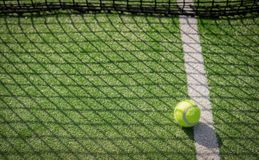 Paddle tennis court and net with a ball Royalty Free Stock Photography