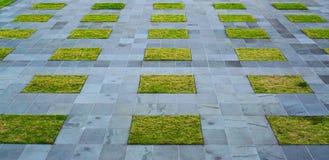 Grass path pattern on stones stock photo