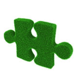 Green grass puzzle piece Stock Image