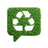 Green grass recycle speech bubble isolated Royalty Free Stock Photos