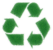 Green grass recycling. High resolution green grass recycling Royalty Free Stock Photo