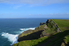 Green Grass on the Sea Cliff`s in Ireland Royalty Free Stock Image