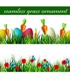 Green Grass seamless set Stock Photos