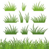 Green grass, seamless and set Stock Photo
