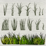 Green Grass Set Royalty Free Stock Photography
