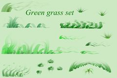 Green grass set Royalty Free Stock Photos