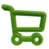 Green grass shopping cart. natural background texture. Stock Photography
