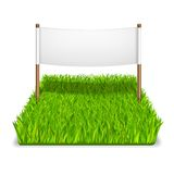 Green grass sign. Realistic isolated vector illustration Stock Images
