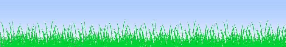 Green grass and sky - vector. Green grass and sky – stock vector Royalty Free Stock Image