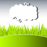 Green grass and sky. Vector Stock Photo