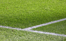Green grass soccer field Stock Photography