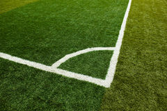 Green grass, soccer field Royalty Free Stock Photos