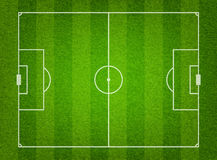 Green grass soccer field background Royalty Free Stock Photo