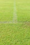 Green grass soccer field Stock Image