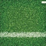 Green grass of soccer football field background with white line. Vector illustration stock illustration