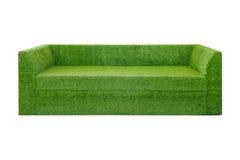 Green grass sofa Stock Photo