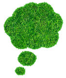 Green grass Speech Bubble Stock Photography