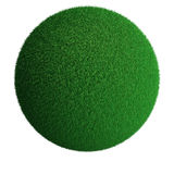 Green grass sphere Royalty Free Stock Images