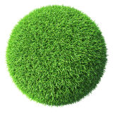 Green grass sphere isolated Royalty Free Stock Images