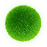 Green grass sphere Royalty Free Stock Photography