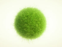 Green grass spheres vector illustration