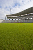 Green Grass and The Stadium Royalty Free Stock Photos