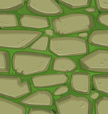 Green grass with stones. Seamless Royalty Free Stock Image