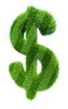Green grass symbol dollar Stock Photos