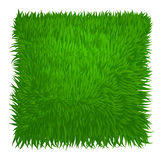 Green grass texture rectangle isolated on white Stock Photo