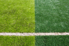 Green grass texture in soccer Field Stock Image